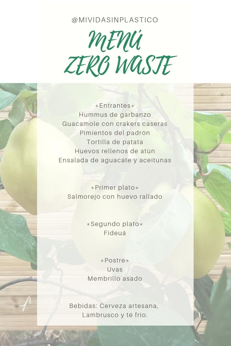 Menú zero waste